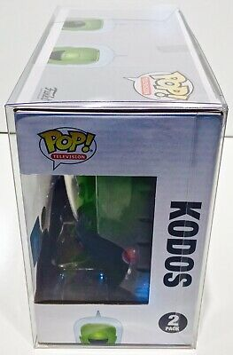 1 Box Protector For Funko Pop! KANG AND KODOS SIMPSONS 2 pack! New Display Cases 8