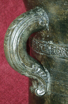 Italien Monumental Bronze Mörser Apotheke Weinranken Ornament Datiert 80 Kg 1643 5