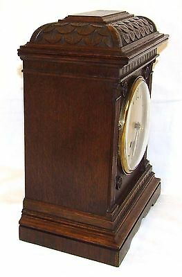 Antique LENZKIRCH Carved Oak Bracket Clock : CLEANED AND SERVICED 8