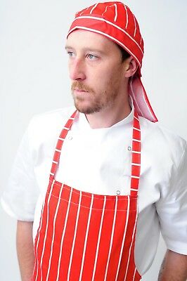 chef bandana ties and back protector head band Restaurant Work Wear Hat zandana 5
