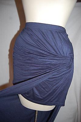 JR Womens BOHO ISLAND STYLE SKIRT Twisted Knot DARK BLUE NAVY Sarong XS S M L