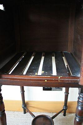 ANTIQUE Scottish Victorian Bedside Table 10