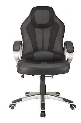 RayGar Deluxe Black Racing Seat Gaming Chair Swivel