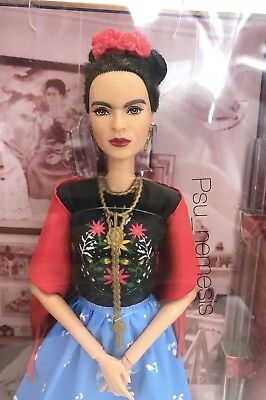 ❤ Frida Kahlo Mattel Barbie Doll Inspiring Women Series Mexican Artist IN STOCK❤ 3