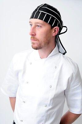 chef bandana ties and back protector head band Restaurant Work Wear Hat zandana 9
