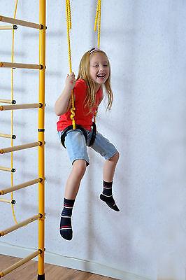 NiroSport FitTop M3 Indoor Jungle Gym Wall Bars for Kids Swedish Ladder Climbing