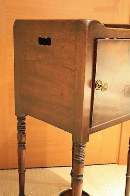 ANTIQUE Scottish Victorian Bedside Table 7