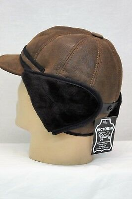 Black NEW Elmer Fudd Hat - 100/% Sheepskin by Northern Hats SKU: 18K-BLK