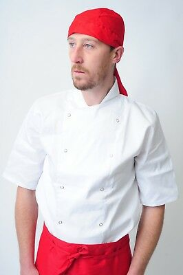 chef bandana ties and back protector head band Restaurant Work Wear Hat zandana 7