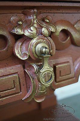 Custom Painted Antique Renaissance Revival Marble Top Server 6