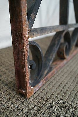 Antique Hand Wrought Iron Pair of Black Iron Regency Style Wall Grates (B) 11