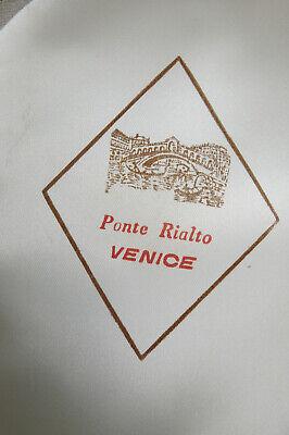 Ponte Realto Venice Boater Hat Gondola 57 7-1/8 Made in Italy Straw Braid Sailor 10