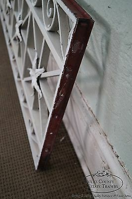 Antique Pair of Hand Wrought Iron Regency Style Wall Grates 12
