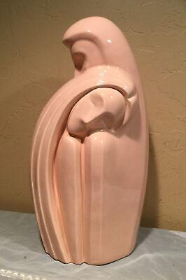 Vintage Royal Haeger Pottery \u201cLovers\u201d Embrace  Pink StatueBust #6051