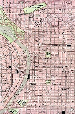 LARGE ORIGINAL 1899 Antique Map PHILADELPHIA Pennsylvania PA ...