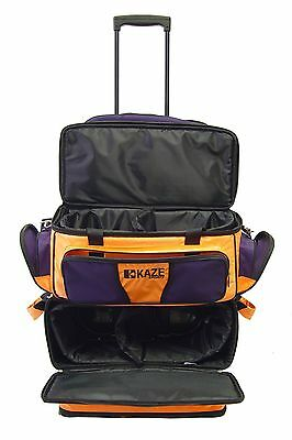 017b72e65a ... KAZE SPORTS 4 Ball Double Decker Bowling Bag Roller Tote with Smooth PU  Wheels 5