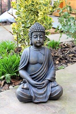 Garden Patio Garden Ornament Sitting Buddha Stone Effect Outdoor Indoor Statue Thai Zen Desmoinesfencecompany Com