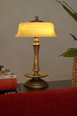 Prachtvolle original Art Déco Tischlampe 1920 Jugendstil Messinglampe Berlin 3