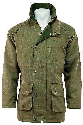 Mens Tweed Derby Wool Jacket Waterproof Breathable Warm Shooting Hunting S - 4XL 2