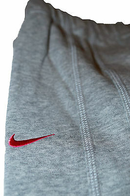 New Nike Girls Soft Fleece Jogging Bottoms Light Grey Pink M Age 10-12 Yrs 2