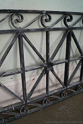 Antique Hand Wrought Iron Pair of Black Iron Regency Style Wall Grates 7