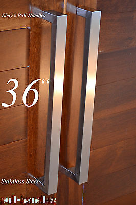 Superbe 3 Of 7 Square Pull Long Door Handle Entry Modern Pulls Stainless Steel  Front Door Glass
