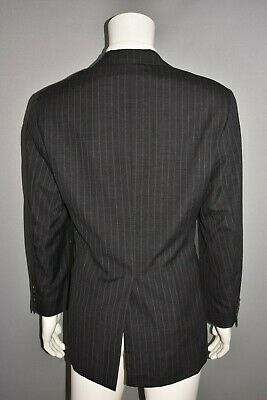 RALPH LAUREN $199 Polo University Club Gray Pinstripe Wool Blazer Men's 40 R 2