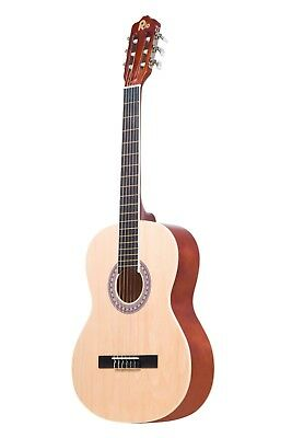 Rio 39'' Full Size 4/4 Beginner Classical Acoustic Guitar Pack Package Natural 2