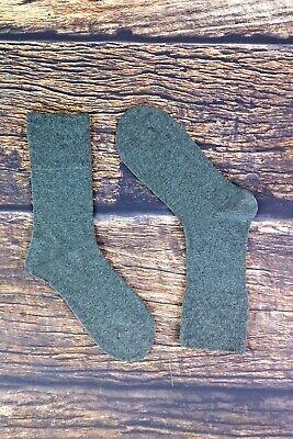 IOMI - Mens 6 Pack Wide Loose Top Non Binding Elastic Cotton Crew Diabetic Socks 6