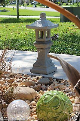 PAGODA ORIENTAL CONCRETE Lantern Japanese Garden Yard Cement Art Stone  Statue