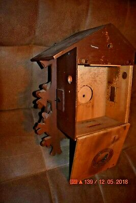 Vintage 8 day Heco Cuckoo Clock Box only for parts 11