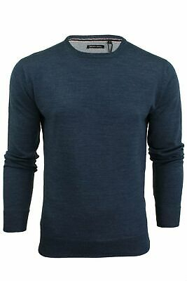 Mens Light Knitted Crew Neck Jumper Sweater Jersey Long Sleeve Brave Soul Parsec 8