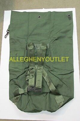US Military Army DUFFEL DUFFLE SEA BAG LUGGAGE Top Load 2 Strap OD NYLON NICE 6