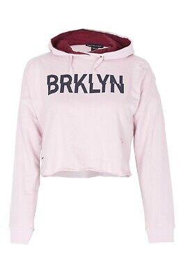 New Kids Girls BRKLYN Front Ripped Crop Hoodie Sweatshirt Pullover Top 7