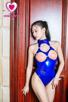 Completo Seno Scoperto Body Scollato Latex Aderente Mistress Dominatrice Lucido 12