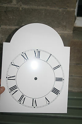 VINTAGE ENAMEL STYLE CLOCK FACE   REPLACEMENT PAINTED ON ALUMINIUM VGC m 4