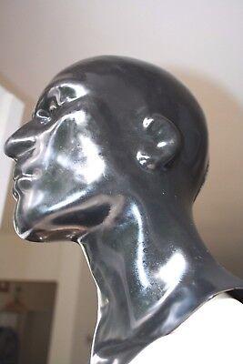 schwere Latexmaske, Reißverschluß, Latex-Maske, rubber mask zip, geschl. 1,4