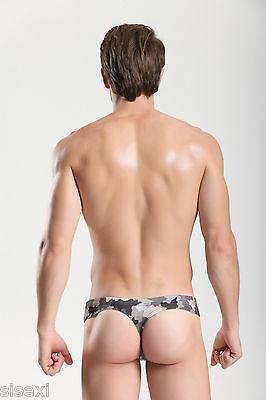Slip Cuir Vinyle Armee Camouflage Sexy Homme Erotique Underwear Man Leather Uomo 4