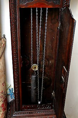 Antique Mosley, Peniston Yorkshire, 18th Century Carved Oak Grandfather Clock 5