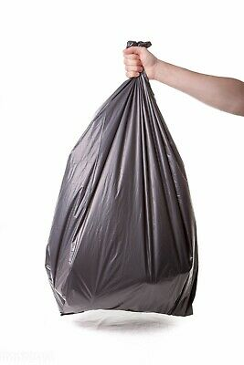 HEAVY DUTY Black Sacks LARGE Bin Bags Refuse Rubbish Liners EXTRA STRONG 2