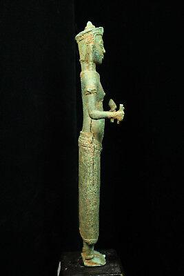 Rare Ancient Khmer Bronze Statue of Prajnaparamita 12th c Bayon Style Angkor Per 8