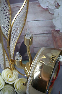 Rare Vintage Italian Wall sconce early 1980's Autumn leaves glass pearls 5