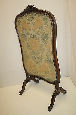 French louis XV Fireplace Screen with Original Fabric, From France, Circa 19th 6