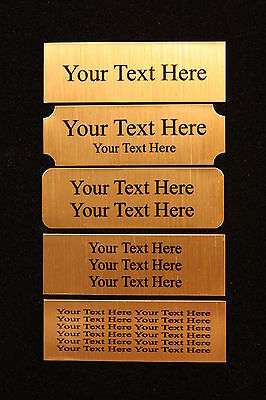 1x4 Custom Engraved Sublimation Brass Plate Picture Plaque Name Tag Trophy Flag 2