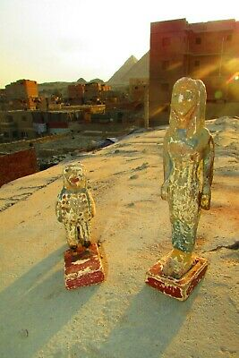 Antique Pharaonic Statues Made Of Wood, Horse And Nefertiti, Rare Made In Egypt 8