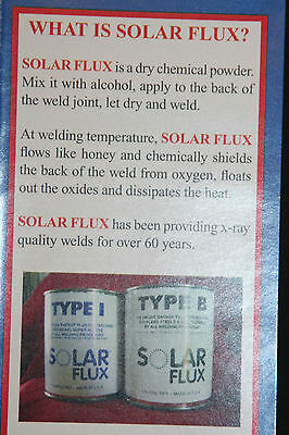 SOLAR FLUX TYPE B For Stainless Steel Welding, TIG MIG SMAW, FREE SHIPPING 1 lb. 5