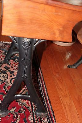 Antique School Desk with Original Inkwell and Folding Seat 9