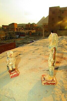 Antique Pharaonic Statues Made Of Wood, Horse And Nefertiti, Rare Made In Egypt 6