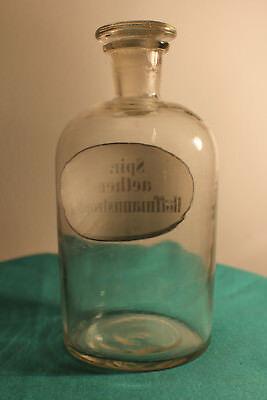 Apothekenflasche, Glasflasche, Vorratsglas Laborglas mit Glasstopfen #6271