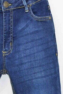 NEW Boys Kids Stretch Jeans Denim Skinny FIT Pants Trousers Age 7-13 Years BLUE 7